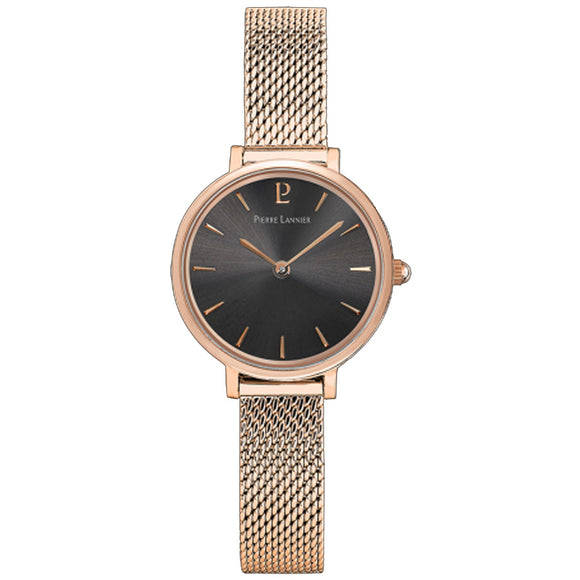 Pierre Lannier Nova Rose Gold/Anthracite Mesh 014J938