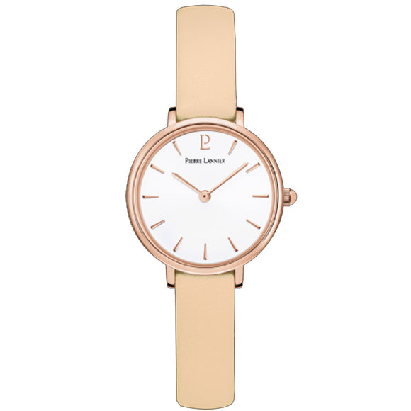 Pierre Lannier Nova Rose Gold/Beige Leather 014J925