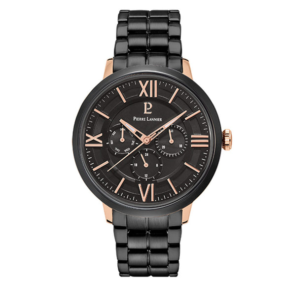 Pierre Lannier Beaucour Black Rose Gold/Black Link 257G439