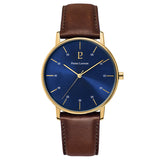 Pierre Lannier Cityline Gold Blue/Dark Brown Leather 204G064
