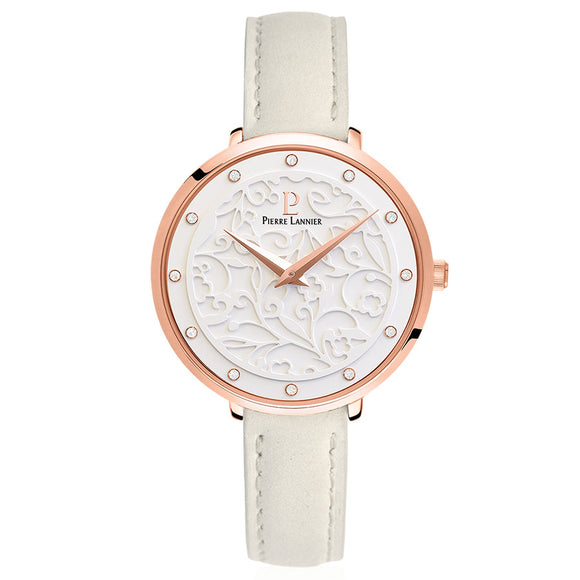 Eolia Rose Gold White/Stone Leather 041K600