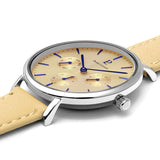 Pierre Lannier Symphony Beige Silver/Beige Leather 36mm 001G655