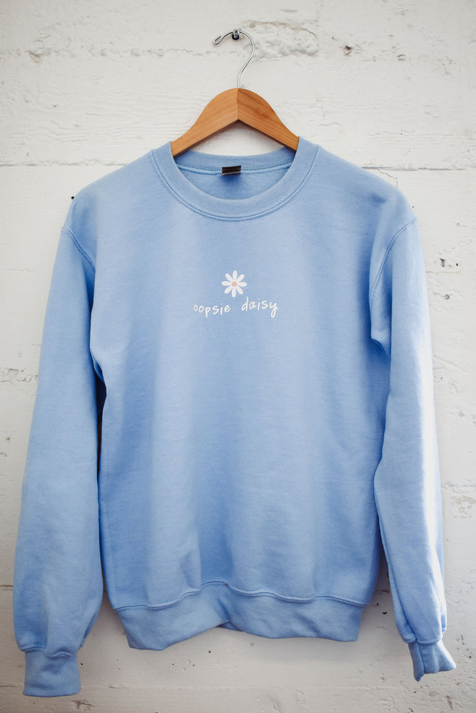 Light Blue Oopsie Daisy Sweatshirt