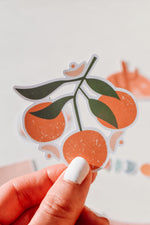 Boho Oranges Sticker