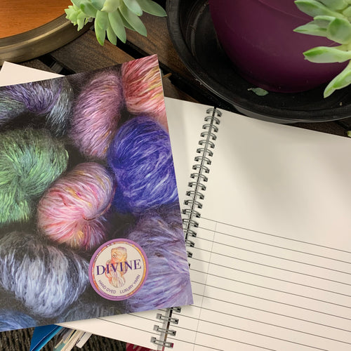 DIVINE YARN SPIRAL NOTEBOOK 8X8