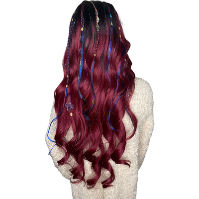 LIT UNICORNS - Branded Wig - FIRE OPAL