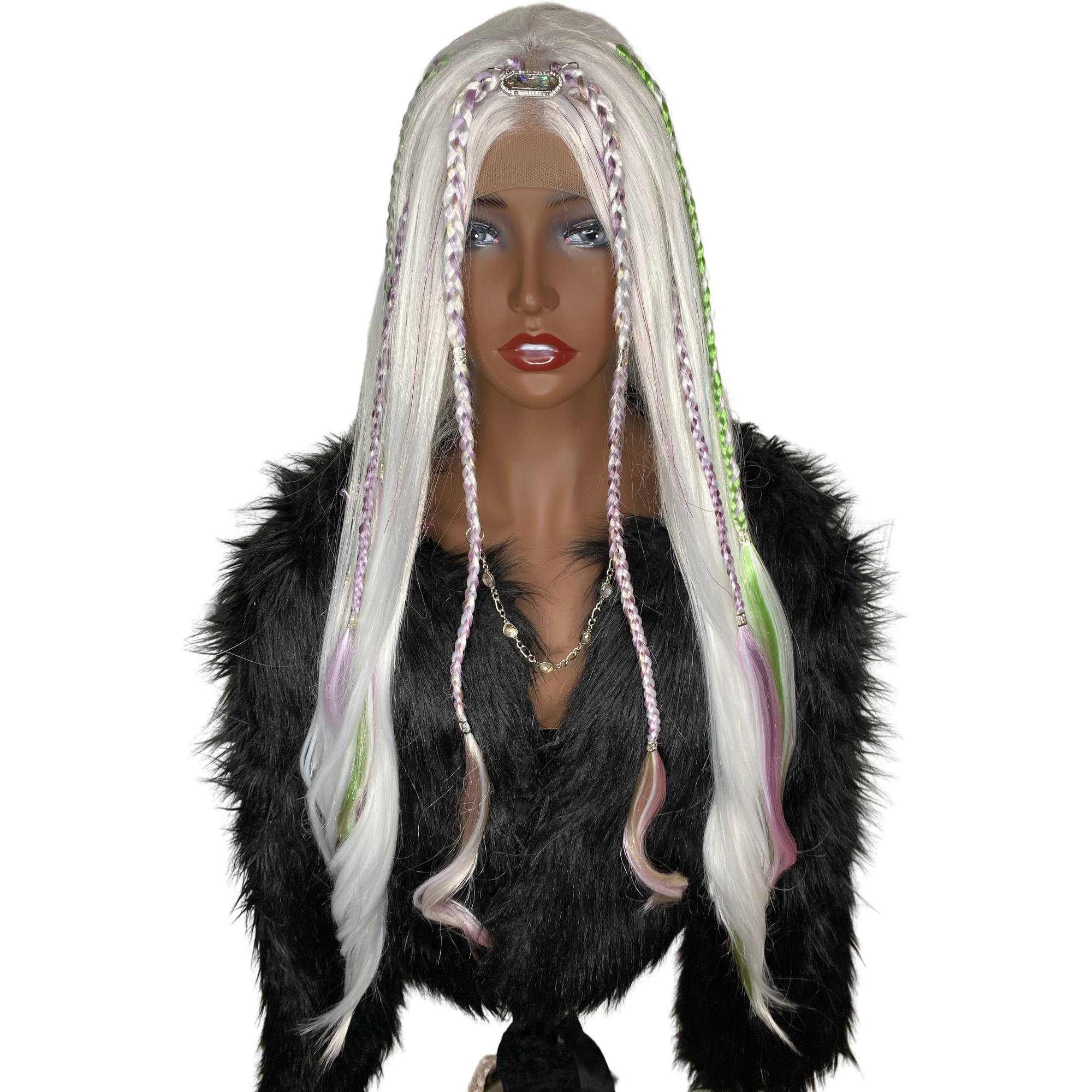 LIT UNICORNS - Branded Wig - #BRANDED 👽  WHITE OPAL
