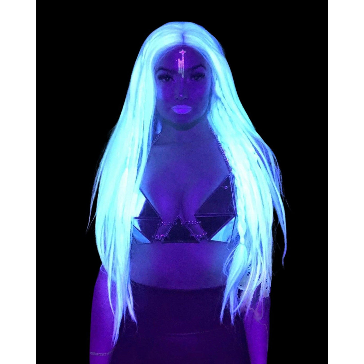 LIT UNICORNS - Discounted Wig - WHITE GLOW DOWN
