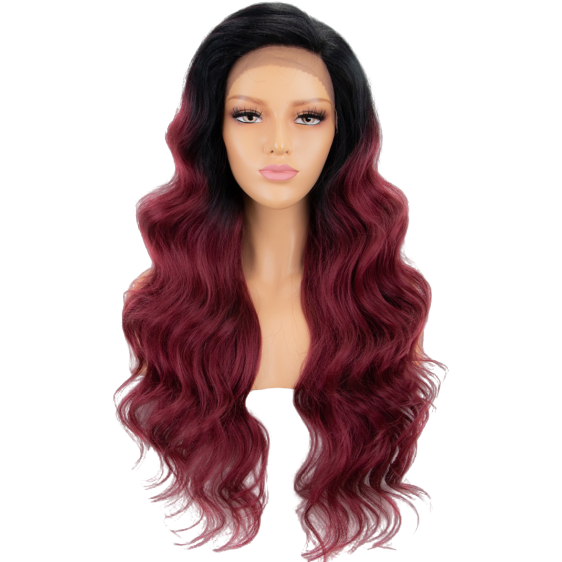 LIT UNICORNS - Wig - MARYLIN MERLOT (13x6 lace)