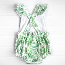 Load image into Gallery viewer, Tropical Leaves Flutter Romper
