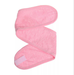 pink toweling head band head wrap bellaskincare