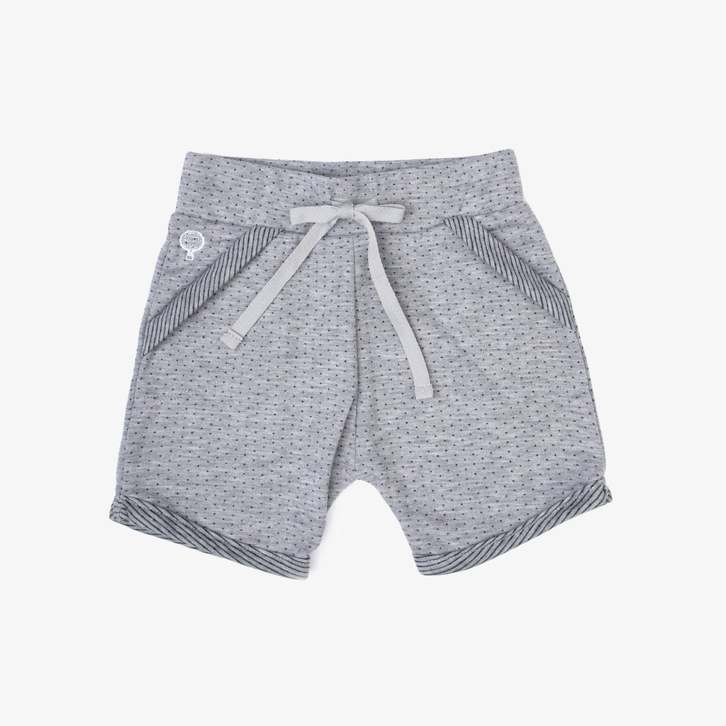 SHORT LYTY GRIS PUNTITOS NEGROS