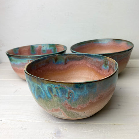 Second: Bowls (set of three- wonky rims)