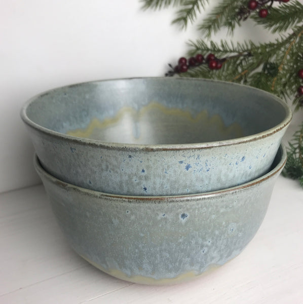 "Bowls (Set of 2, 7"" Wide): The cold wind burns my face, and blows..."
