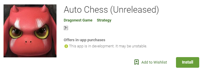 Auto Chess Mobile Version - Google Play Store Android launch