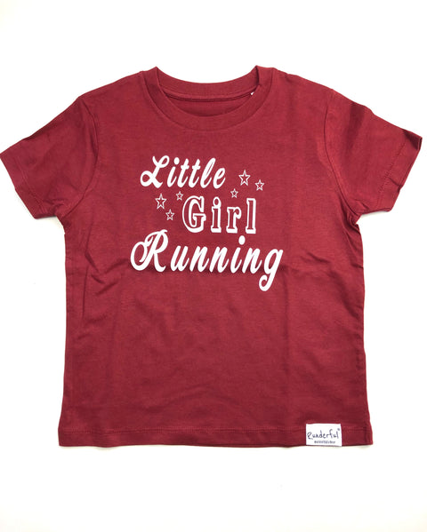 Little Girl Running - Kinder T-Shirt | Runderful