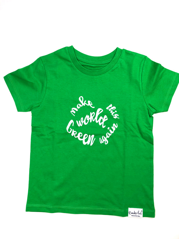 Make this world green again - Kinder T-Shirt | Runderful