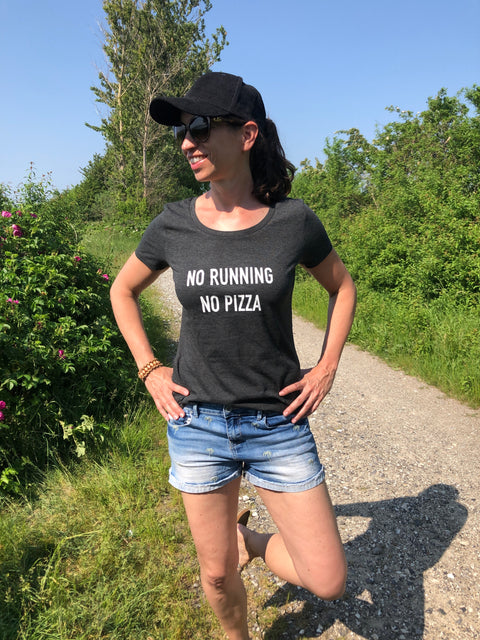 No running no pizza T-Shirt allstridesin