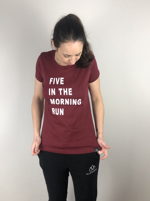 Five in the morning Run T-Shirt | allstridesin