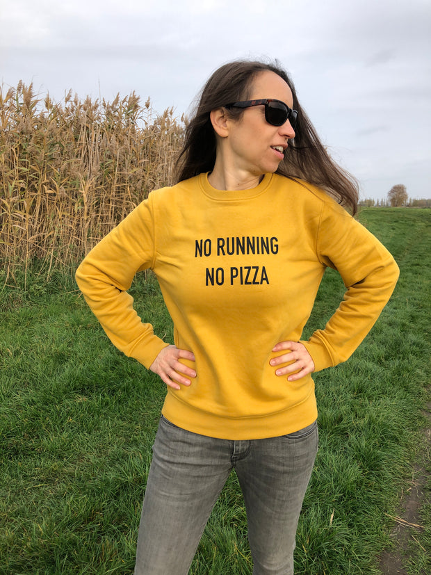 No running No Pizza Unisex Sweater allstridesin