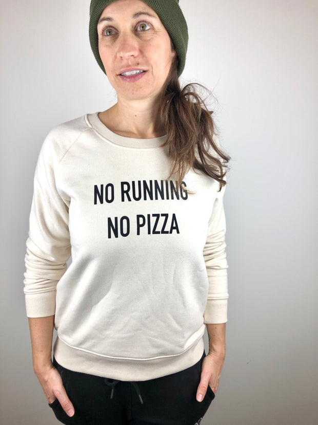 No Running No Pizza Sweater allstridesin