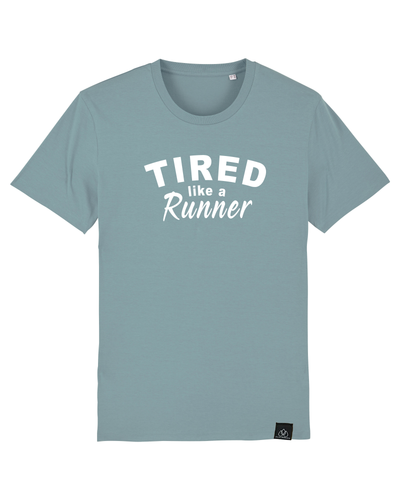 TIRED LIKE A RUNNER - ICONIC UNISEX T-SHIRT | ALLSTRIDESIN®