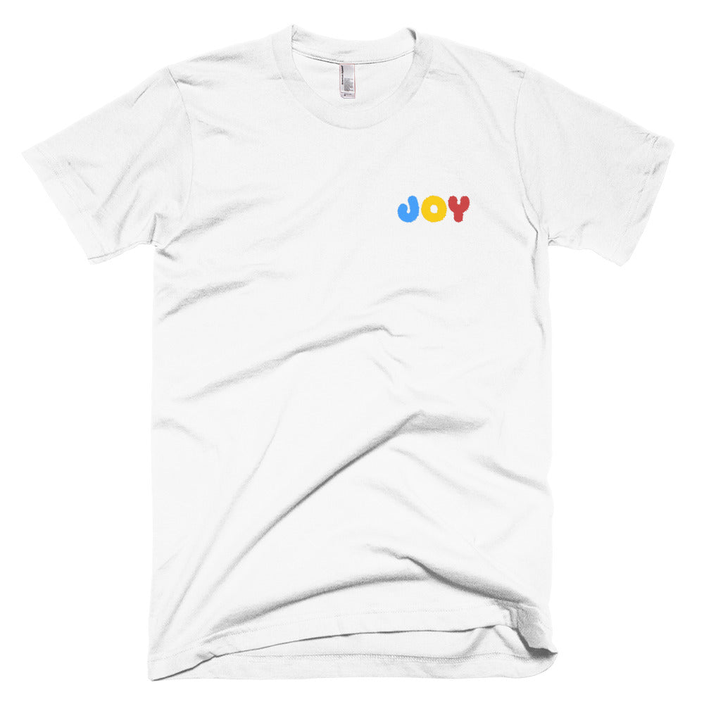 Primary Tricolor JOY Embroidered T-Shirt