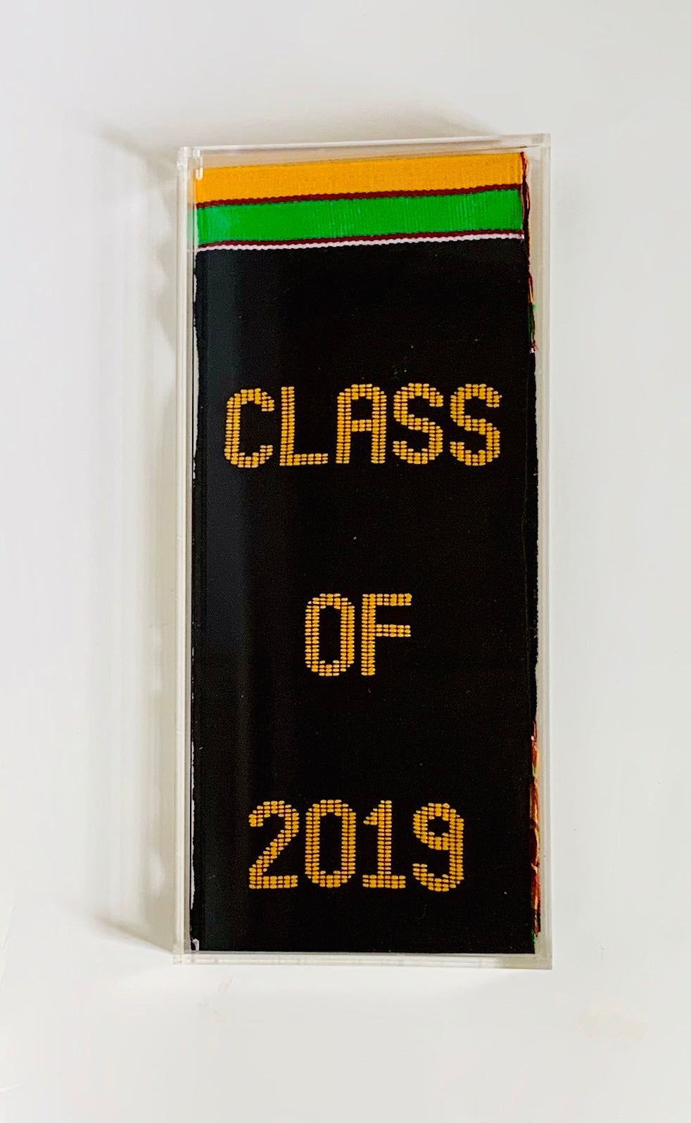 Graduation Stole Display Case - Kente Stoles