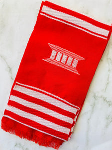 Red & White Kente Graduation Stole - Kente Stoles