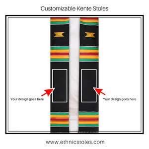 Customizable Kente Graduation Stole - Kente Stoles
