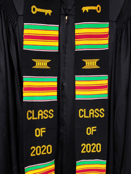 Kente Graduation Stole Class of 2020 - Kente Stoles
