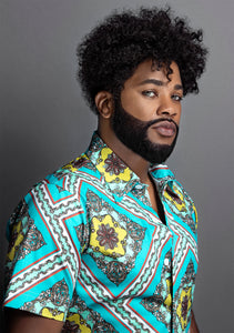 Harje Hair Afro Cuban Wave Man Hair Unit