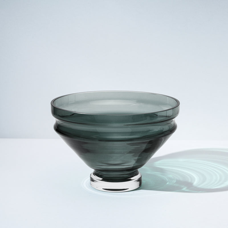 raawii Relæ - Large Glass Bowl Bowl Cool Grey