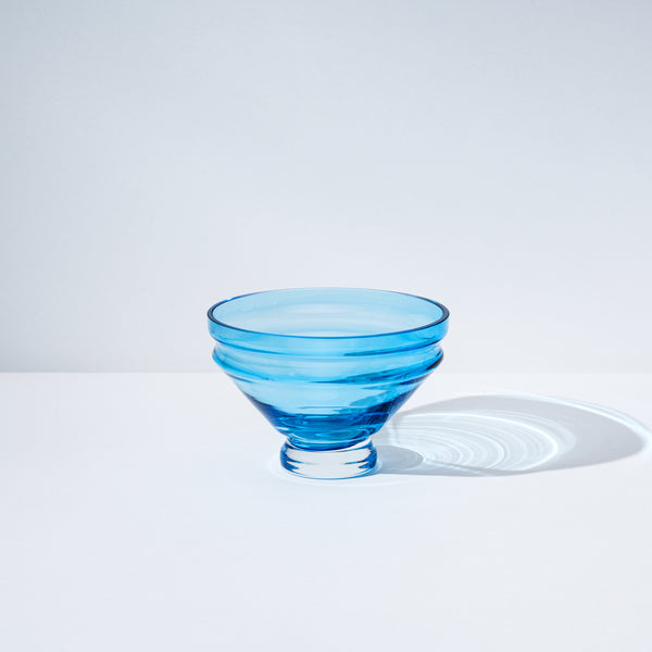 raawii Relæ - Small Glass Bowl Bowl Aquamarine Blue