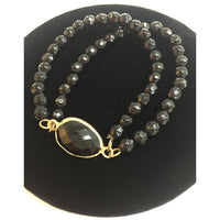 Obsidian Double Chains Bracelet