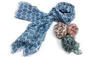 Wool & Silk Mixed Scarves (Leaf)