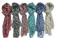 Wool & Silk Mixed Scarves(Circle Pattern)