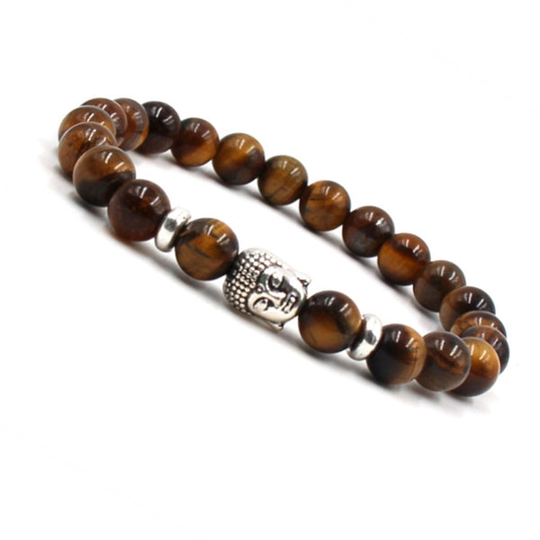 Tiger Eye Beads Buddha Bracelet