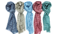 Wool & Silk Mixed Scarves (Straight Pattern)