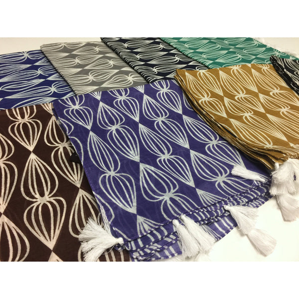 100% Cotton Made Lantern Pattern Scarves