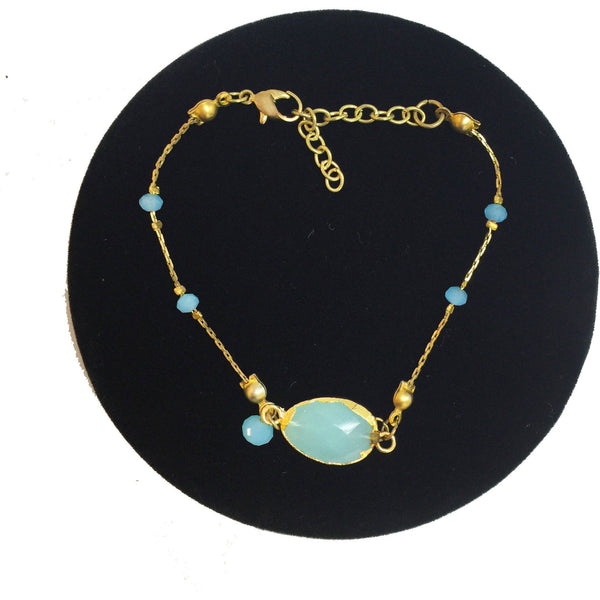 Pure Blue Crystal Bracelet
