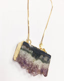 Irregular Shape Purple Crystal Necklace #02