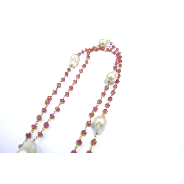 Rose Quartz Knotting Chain Necklace