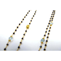 Black Crystal Knotting Chain Necklace
