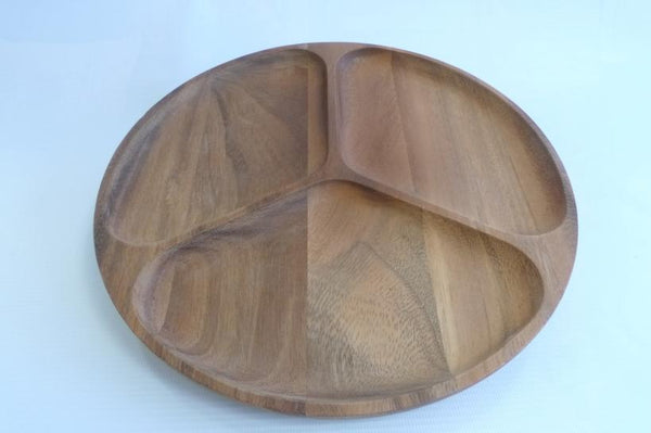 Round Wooden Serving Tray #01