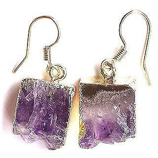 Irregular Shape Purple Crystal Earring
