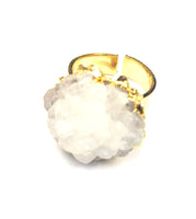 White Mineral Ring