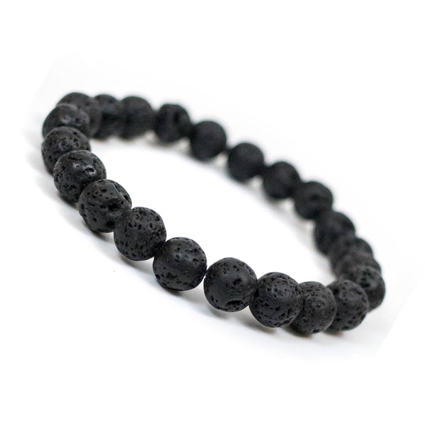 Unwaxed Lava Rock Beads