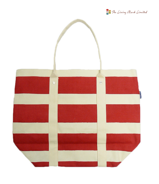 Stripes Beach Bag (Red)