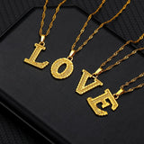 Tiny Gold Stainless Steel Initial Letter Necklace